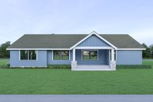 Craftsman Exterior - Rear Elevation Plan #1070-54