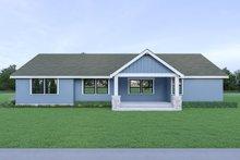 Dream House Plan - Craftsman Exterior - Rear Elevation Plan #1070-54