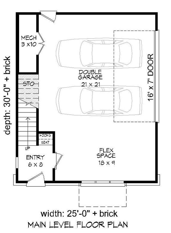 Contemporary Floor Plan - Main Floor Plan #932-213