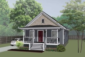 Dream House Plan - Cottage Exterior - Front Elevation Plan #79-111