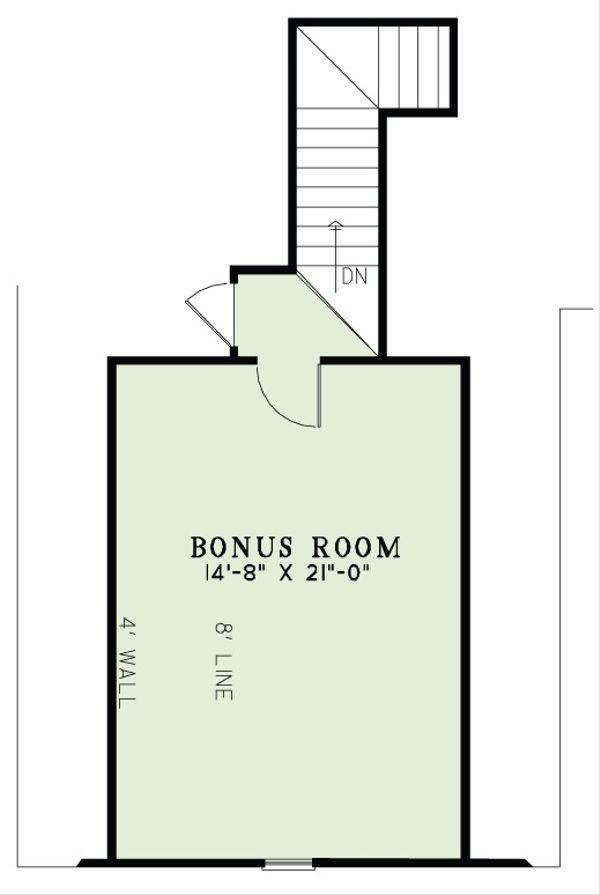 European Floor Plan - Upper Floor Plan Plan #17-2493