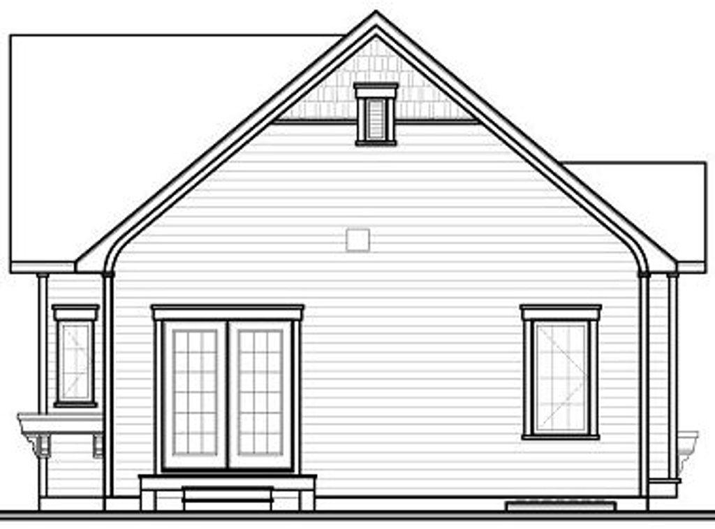 Elevation Plan Ne Demek : Country style house plan beds baths sq ft
