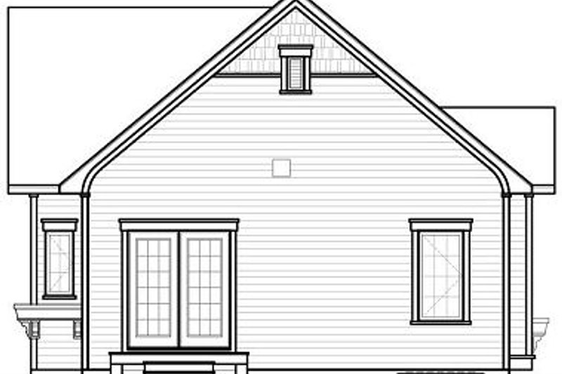 Country Exterior - Rear Elevation Plan #23-780 - Houseplans.com