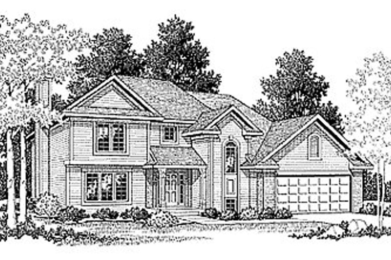 Traditional Style House Plan - 3 Beds 2.5 Baths 1679 Sq/Ft Plan #70-169 Exterior - Front Elevation