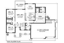 Traditional Floor Plan - Main Floor Plan Plan #70-862
