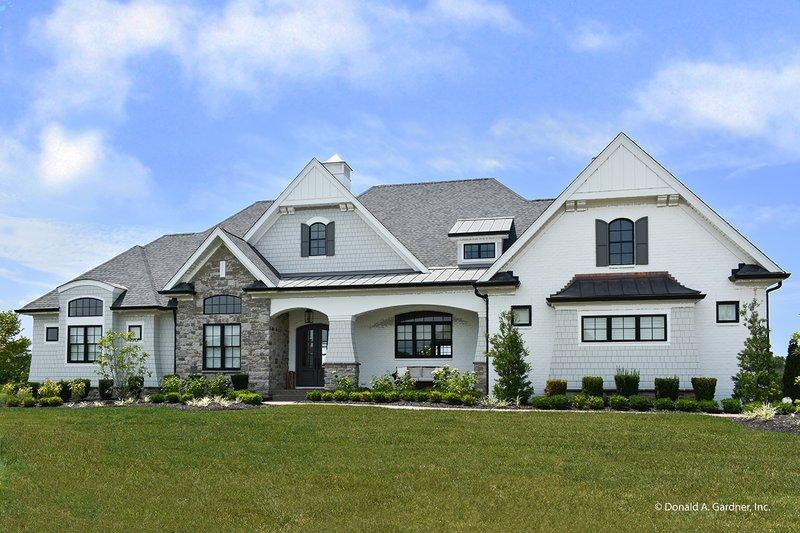 Architectural House Design - European Exterior - Front Elevation Plan #929-1009