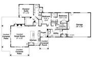 Craftsman Style House Plan - 3 Beds 2.5 Baths 2518 Sq/Ft Plan #124-988 Floor Plan - Main Floor