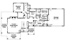 Craftsman Floor Plan - Main Floor Plan Plan #124-988
