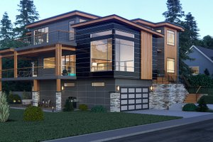 House Plan Design - Contemporary Exterior - Other Elevation Plan #1066-34