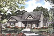 Southern Style House Plan - 4 Beds 3 Baths 2499 Sq/Ft Plan #17-2066 Exterior - Front Elevation