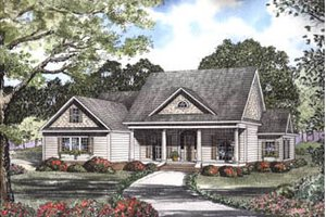 Southern Exterior - Front Elevation Plan #17-2066