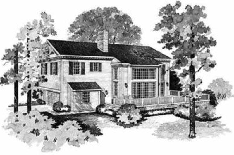 Southern Exterior - Rear Elevation Plan #72-148 - Houseplans.com