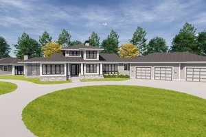 Craftsman Exterior - Front Elevation Plan #928-335