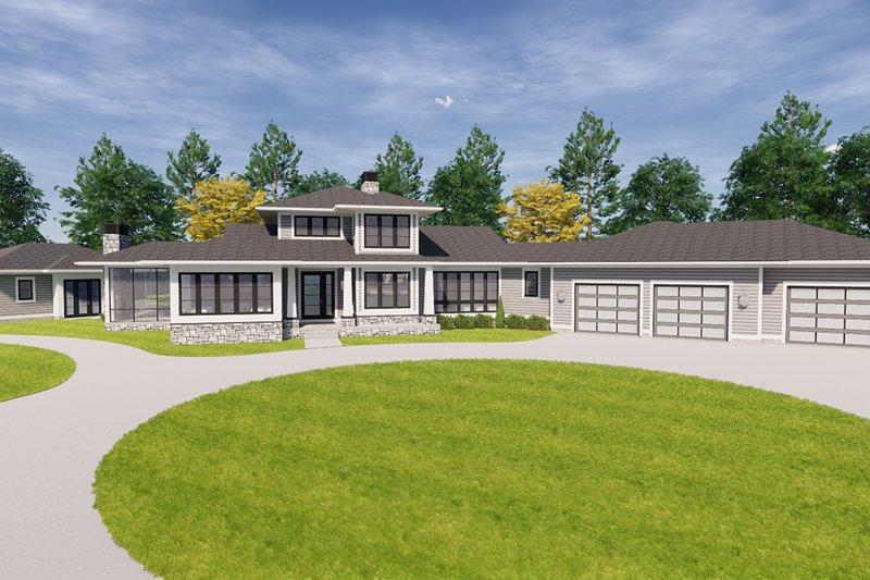 Architectural House Design - Craftsman Exterior - Front Elevation Plan #928-335