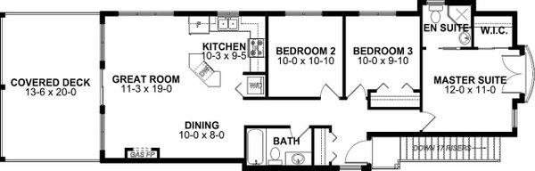 Craftsman Floor Plan - Upper Floor Plan Plan #126-202