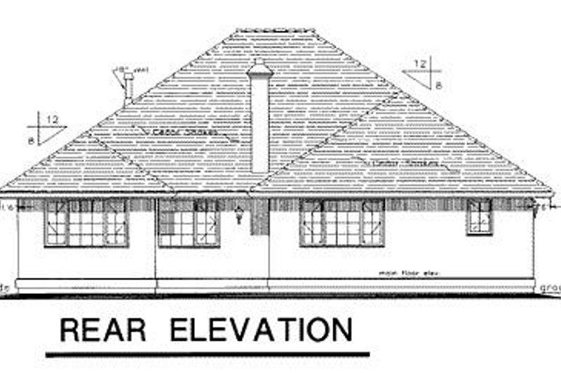 Ranch Exterior - Rear Elevation Plan #18-131 - Houseplans.com
