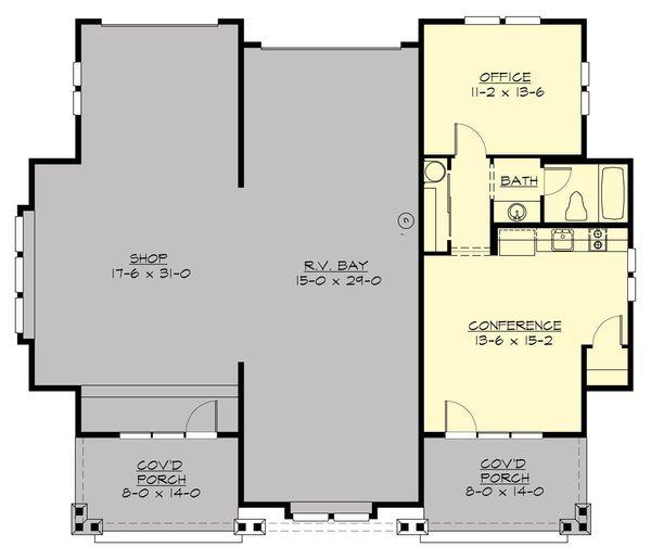 Craftsman Floor Plan - Main Floor Plan Plan #132-193