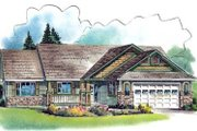 Ranch Style House Plan - 3 Beds 3 Baths 1863 Sq/Ft Plan #18-4529 Exterior - Front Elevation
