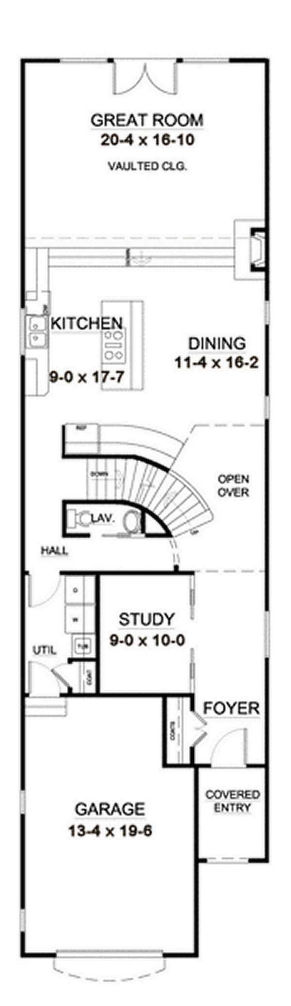 Home Plan - European Floor Plan - Main Floor Plan #126-227