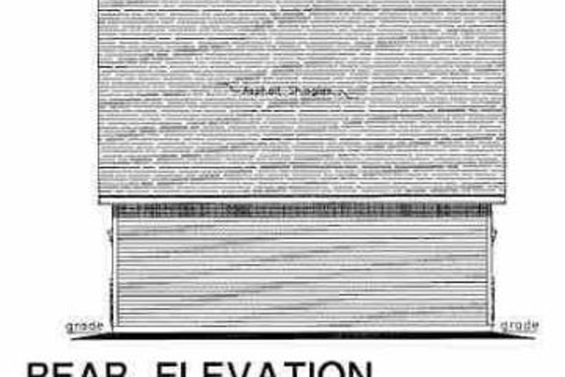 Traditional Exterior - Rear Elevation Plan #18-402 - Houseplans.com