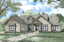 House Plan Design - Craftsman Exterior - Front Elevation Plan #17-2375