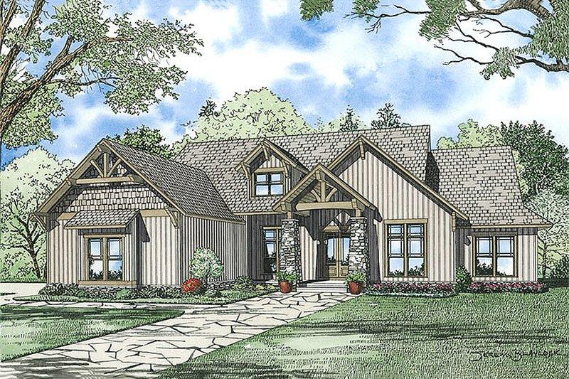 Architectural House Design - Craftsman Exterior - Front Elevation Plan #17-2375