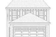 Southern Style House Plan - 2 Beds 2.5 Baths 1320 Sq/Ft Plan #81-104 Exterior - Other Elevation