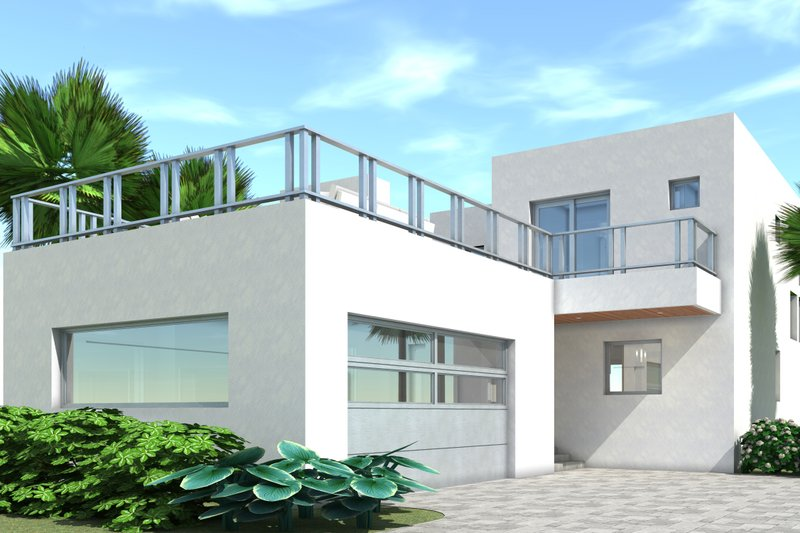 Modern Exterior - Front Elevation Plan #64-234 - Houseplans.com