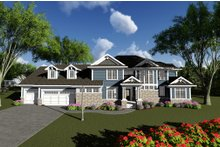 Home Plan Design - Craftsman Exterior - Front Elevation Plan #70-1287
