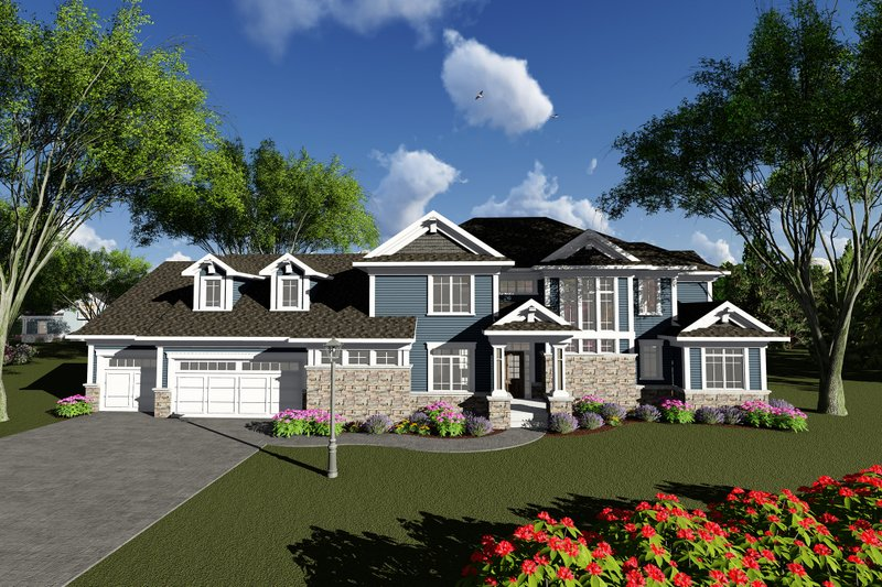 Craftsman Exterior - Front Elevation Plan #70-1287