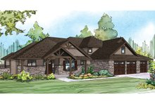 Dream House Plan - Craftsman Exterior - Front Elevation Plan #124-930
