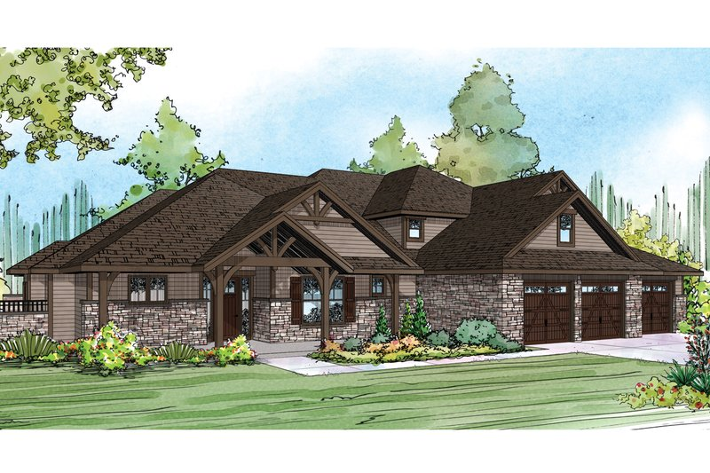 Dream House Plan - Craftsman Exterior - Front Elevation Plan #124-930