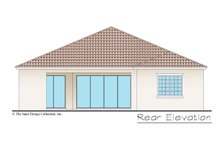 Architectural House Design - Mediterranean Exterior - Rear Elevation Plan #930-493