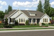 Craftsman Style House Plan - 3 Beds 2.5 Baths 2479 Sq/Ft Plan #46-527 Exterior - Front Elevation