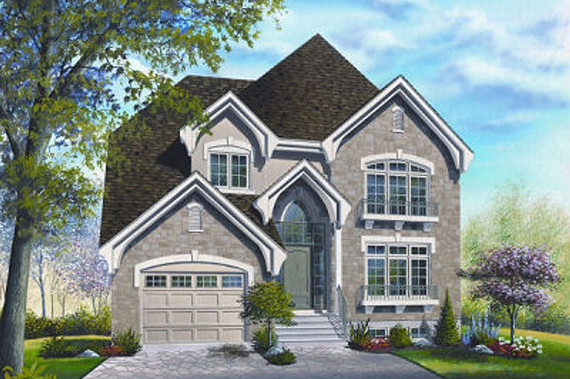 Dream House Plan - European Exterior - Front Elevation Plan #23-801