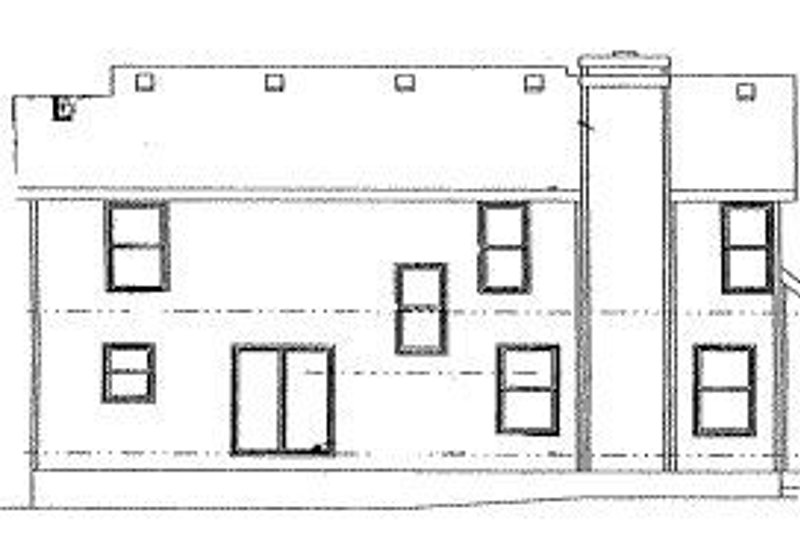 Traditional Exterior - Rear Elevation Plan #20-711 - Houseplans.com