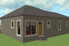House Plan Design - Country Exterior - Rear Elevation Plan #44-177