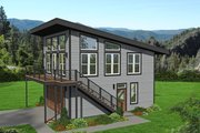 Contemporary Style House Plan - 2 Beds 2 Baths 878 Sq/Ft Plan #932-257 Exterior - Front Elevation
