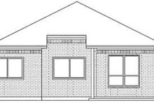 House Design - Traditional Exterior - Rear Elevation Plan #84-221
