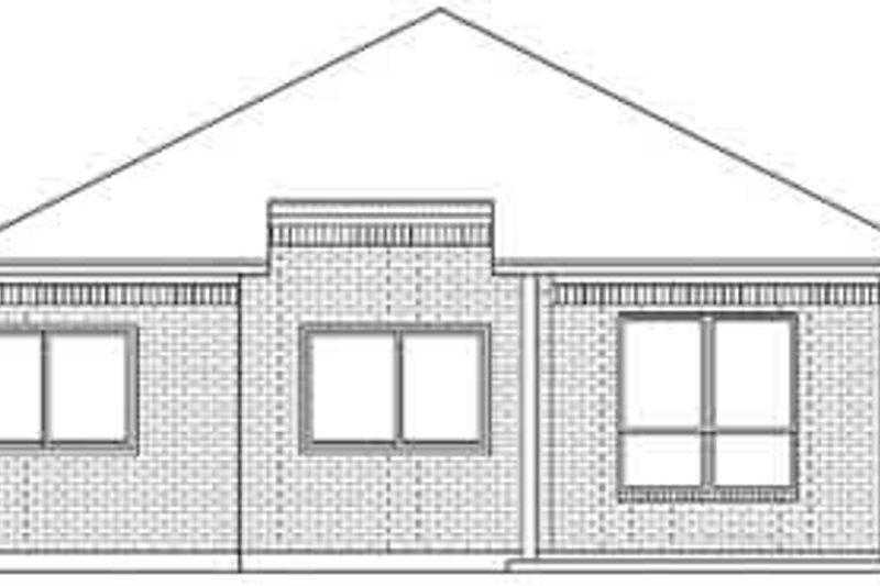 Traditional Exterior - Rear Elevation Plan #84-221 - Houseplans.com
