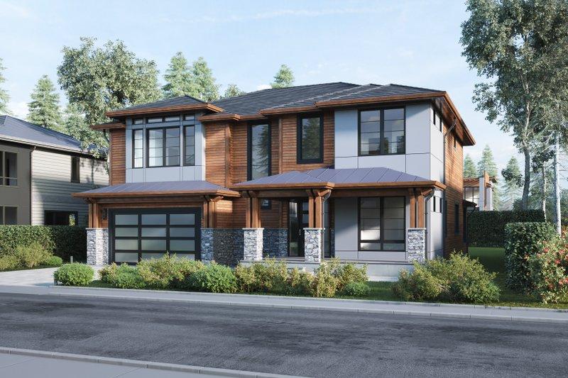 Dream House Plan - Modern Exterior - Front Elevation Plan #1066-13
