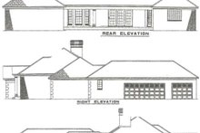 House Design - Traditional Exterior - Rear Elevation Plan #17-583