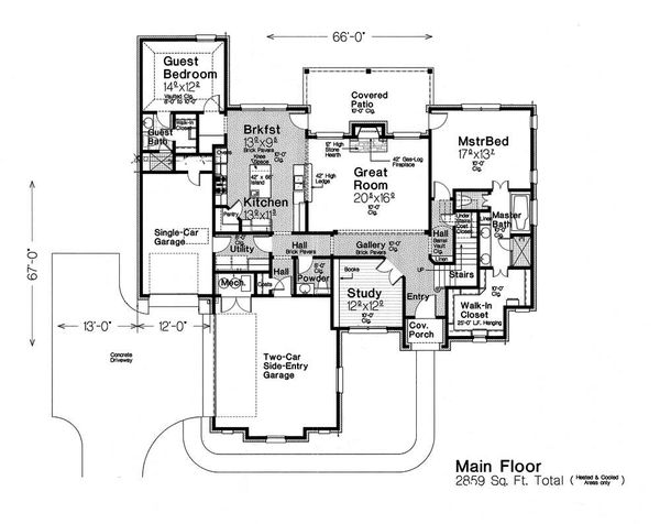 European Floor Plan - Main Floor Plan Plan #310-1292