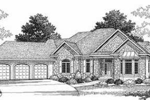 European Exterior - Front Elevation Plan #70-494