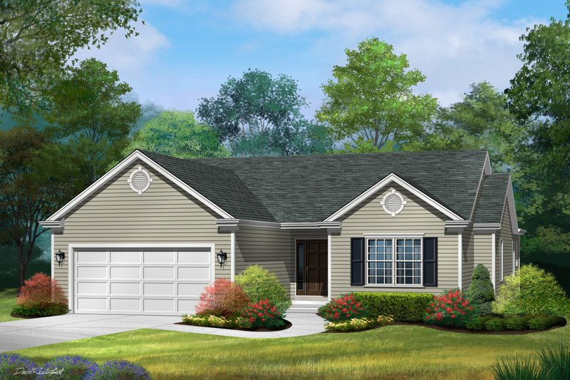 Ranch Style House Plan - 3 Beds 2.5 Baths 1650 Sq/Ft Plan #22-579