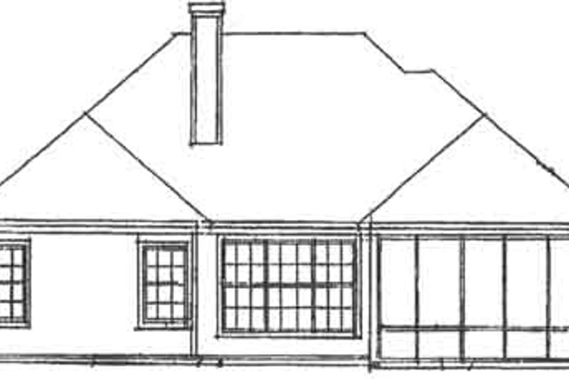 Traditional Exterior - Rear Elevation Plan #20-1420 - Houseplans.com