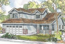 Craftsman Exterior - Front Elevation Plan #124-726
