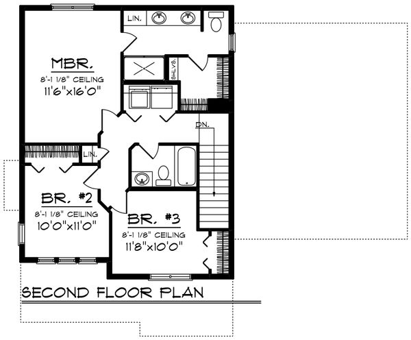 Modern Floor Plan - Upper Floor Plan Plan #70-1413