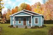 Country Style House Plan - 2 Beds 2 Baths 1050 Sq/Ft Plan #932-352 Exterior - Front Elevation
