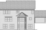 Traditional Style House Plan - 4 Beds 2.5 Baths 2672 Sq/Ft Plan #70-628 Exterior - Rear Elevation